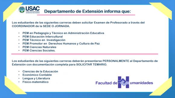 Departamento de Extensión