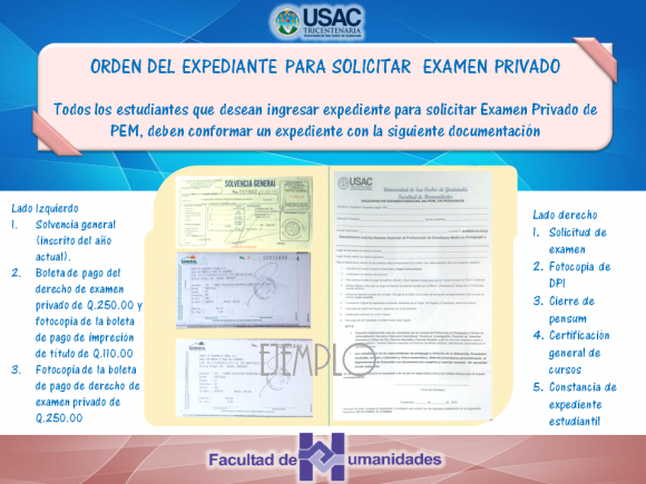 expediente solicitar examen PEM