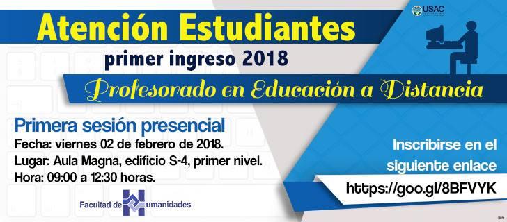 Primera Sesión Presencial2018