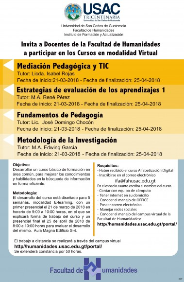 cursos modalidad virtual 2018