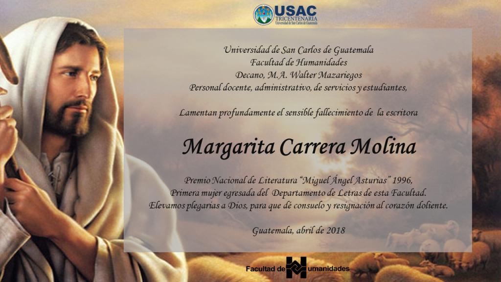 Esquela_Margarita Carrera