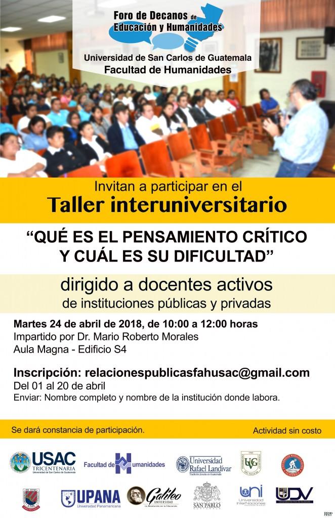 afiche taller interuniversitario abril 2018 (1)