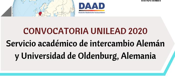Convocatoria UNILEAD 2020, Servicio académico de intercambio Alemán y Universidad de Oldenburg, Alemania (2)